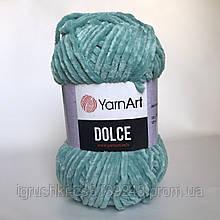 Плюшевая пряжа YarnArt Dolce 770 (ЯрнАрт Дольче) Ментол