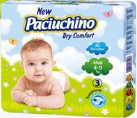 Подгузники Paciuchino Baby Midi размер 3 (4-9кг) (Италия)