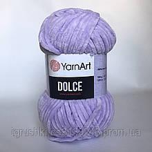 Плюшевая пряжа YarnArt Dolce 744 (ЯрнАрт Дольче) Сирень