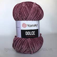 Плюшевая пряжа YarnArt Dolce 751 (ЯрнАрт Дольче) Брусника