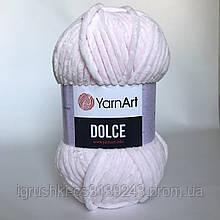 Плюшева пряжа YarnArt Dolce 781 (ЯрнАрт Дольче) Блідо-рожевий