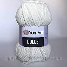 Плюшева пряжа YarnArt Dolce 745 (ЯрнАрт Дольче) Молочний