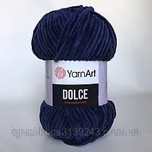 Плюшева пряжа YarnArt Dolce 756 (ЯрнАрт Дольче) Синій