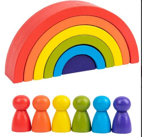 Пирамидка «Rainbow»,  (яркая)