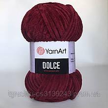 Плюшевая пряжа YarnArt Dolce 752 (ЯрнАрт Дольче) Бордо