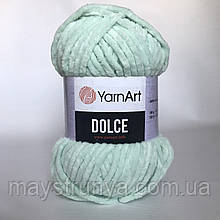 Плюшевая пряжа YarnArt Dolce 753 (ЯрнАрт Дольче) Мята
