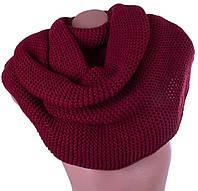 Женский шерстяной шарф-хомут ETERNO (ЭТЕРНО) DS1-17 бордовый