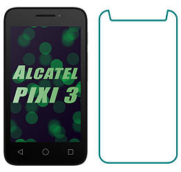 Защитное Стекло Alcatel One Touch PIXI 3 4013D (Прозрачное 2.5 D 9H) (Алкатель Ван Тач Пикси 3)