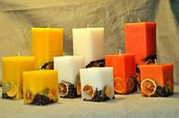 Набор из трех свечей ручной работы