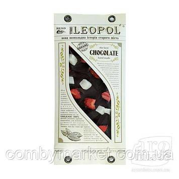 """Шоколад чорний """"Leopol"""" з кокосом та полуницею 95g"""
