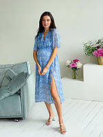 Женское платье для беременных WOW MOM Blue XL (1_1015)
