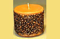 Декоративная цилиндрическая кофейная свеча