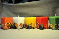 Декоративная квадратная свеча 11 см