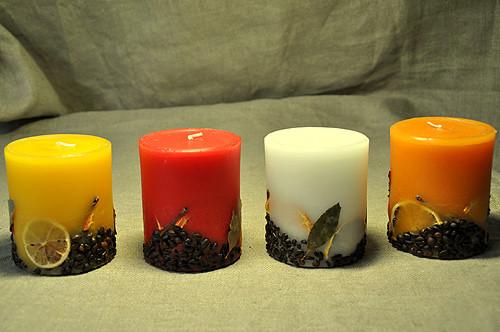 Цилиндрическая свеча ручной работы 11 см - MalvaOpt в Хмельницком