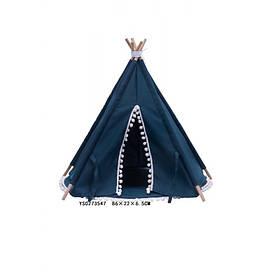 Палатка вигвам, 72-72-72см, синий, в кор-ке, 86-23-7см