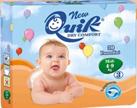 Памперсы Quik Baby Midi (4-9кг) размер 3 (Италия)
