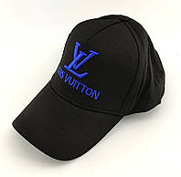 Кепка бейсболка мужская Louis Vuitton Турция 56-60 размер катоновая черная (ББ275), фото 1