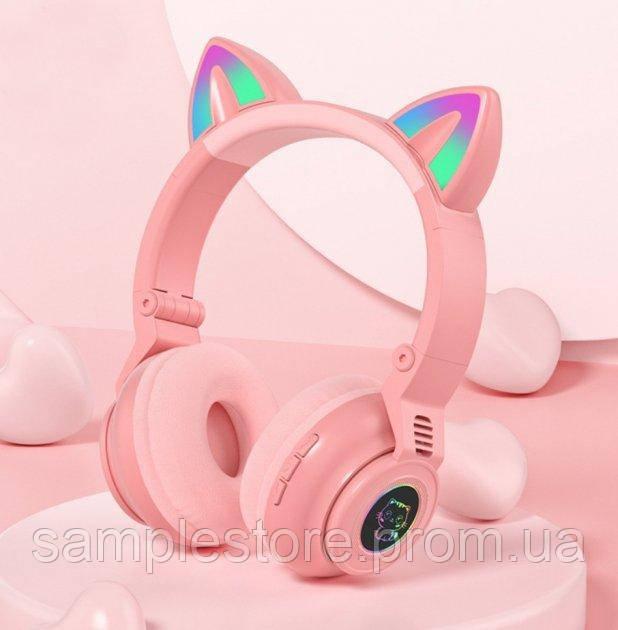 Навушники безпровідні LED з котячими вушками STN-26