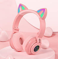 Навушники безпровідні LED з котячими вушками STN-26, фото 1