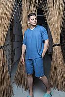Удобный мужской летний льняной костюм(рубашка/шорты). 4 цвета .