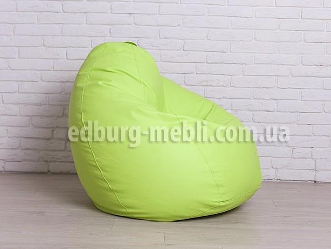 Кресло мешок груша большая |  салатовый кожзам Zeus