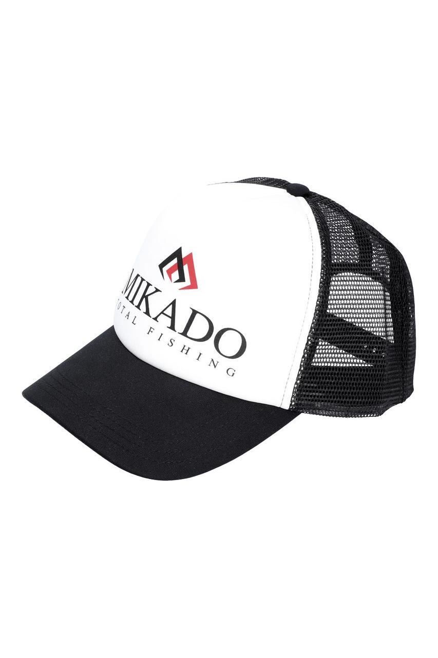 Кепка Mikado Total Fishing UM-UB020 черно-белая