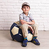 Кресло мяч 60 см   белый+синий кожзам Zeus, фото 2