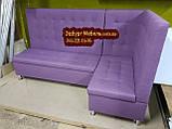 Високий фіолетовий кухонний куточок 1900х1300мм, фото 6