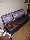 Диван для узкой и длинной комнаты с ящиком + спальным местом 1600х600х850мм, фото 2