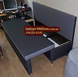 Диван для узкой и длинной комнаты с ящиком + спальным местом 1600х600х850мм, фото 5