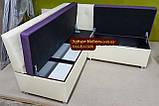 Кухонный уголок с прошивкой низкая спинка, фото 3