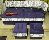 Диван для кухні Екстерн зі спальним місцем тканина антикот, фото 3