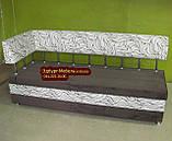 Диван для кухні Екстерн зі спальним місцем тканина антикот, фото 7