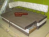 Диван для кухні Екстерн зі спальним місцем тканина антикот, фото 8