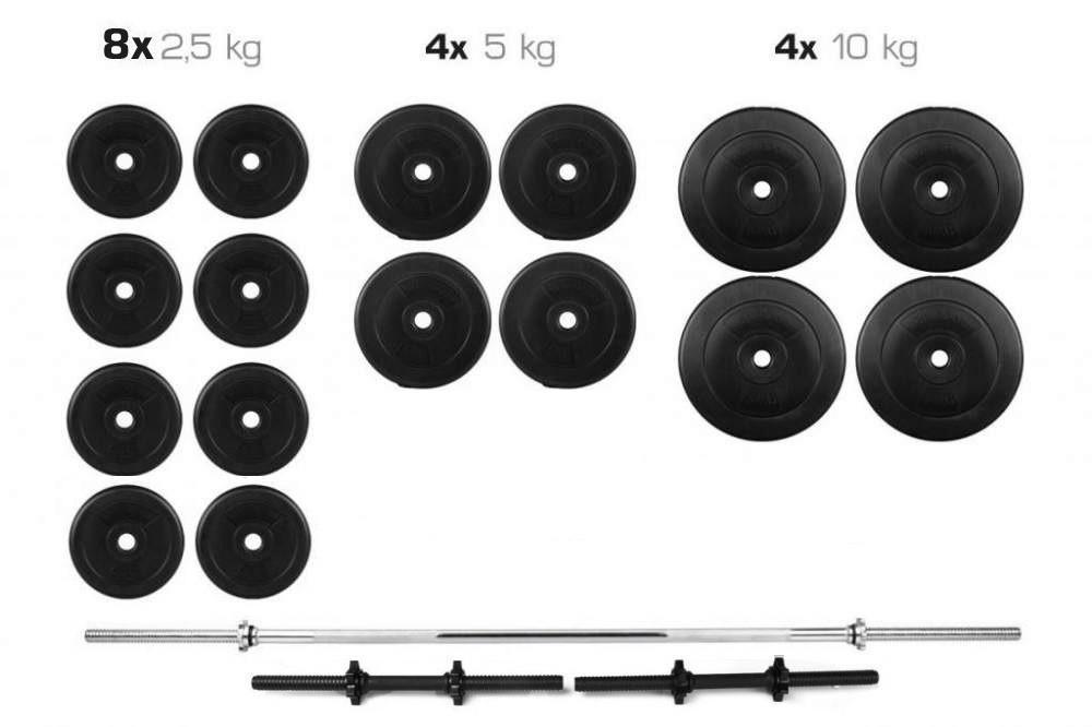 Штанга + Гантелі Набір 90 кг