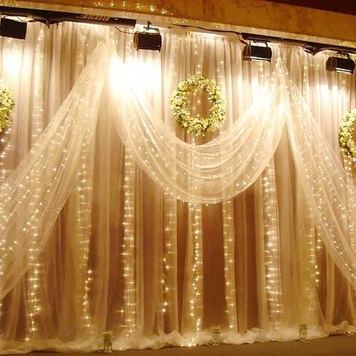 Новорічна декоративна світлодіодна гірлянда штора водоспад для святкового освітлення для будинку