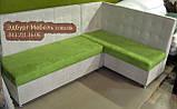 Елітний кухонний куточок замша Бельгія Апекс текстиль, фото 2