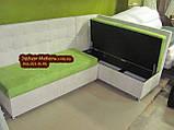 Елітний кухонний куточок замша Бельгія Апекс текстиль, фото 3