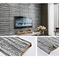 Декоративні 3д 3D панелі для стін під Дерево 700*700мм 3д миються вологостійкі для спальні ванної