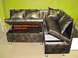 Кухонный уголок + 1 пуф шкаф Крокодил, фото 3