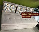 Диван для вузьких приміщень тканина Туреччина, фото 3