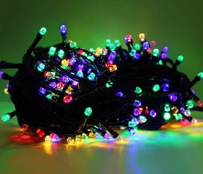 Новогодняя гирлянда светодиодная нить кристалл 400 LED мультик. Праздничное освещение для дома и улицы