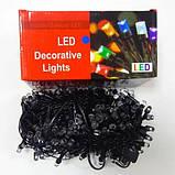 Новогодняя гирлянда светодиодная нить кристалл 400 LED мультик. Праздничное освещение для дома и улицы, фото 5