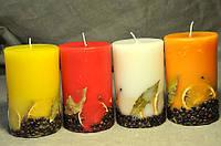 Декоративная цилиндрическая свеча 15 см