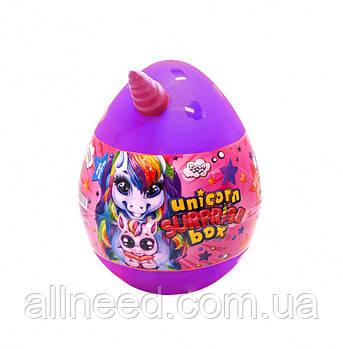 """Набор для творчества в яйце """"Unicorn Surprise Box"""" USB-01-01U для девочки (Фиолетовый)"""