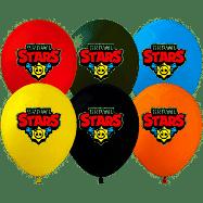 """Повітряні латексні кульки бравл старс brawl stars 12"""" 10 шт"""