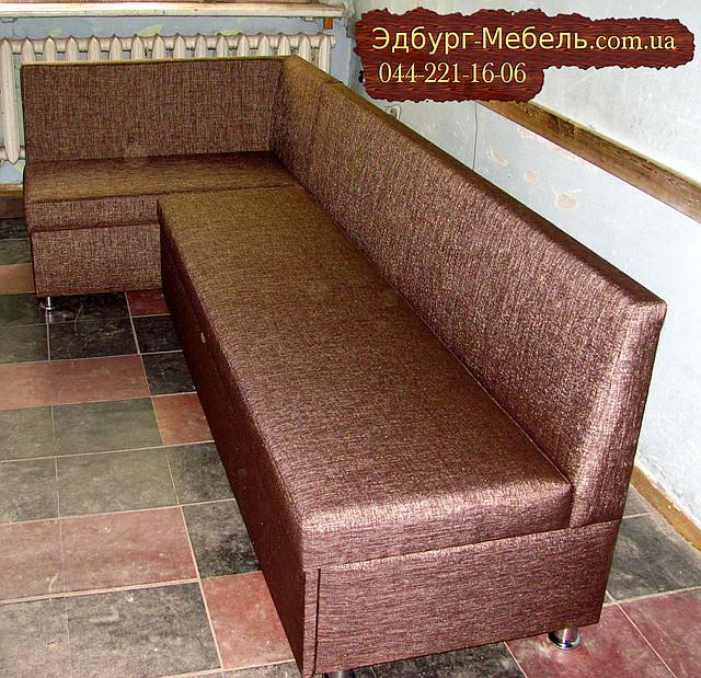 Кухонний куточок коричневий-тканина КАНТРІ + спальне місце