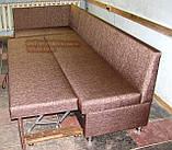 Кухонний куточок коричневий-тканина КАНТРІ + спальне місце, фото 2