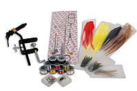 Набор инструментов Lineaeffe для вязания мушек 12 наимен.(станок,ножницы,пинцет,нитки,перья)