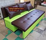 Диван для вузької кухні, коридору з ящиком + спальним місцем 1800х600х850мм, фото 2